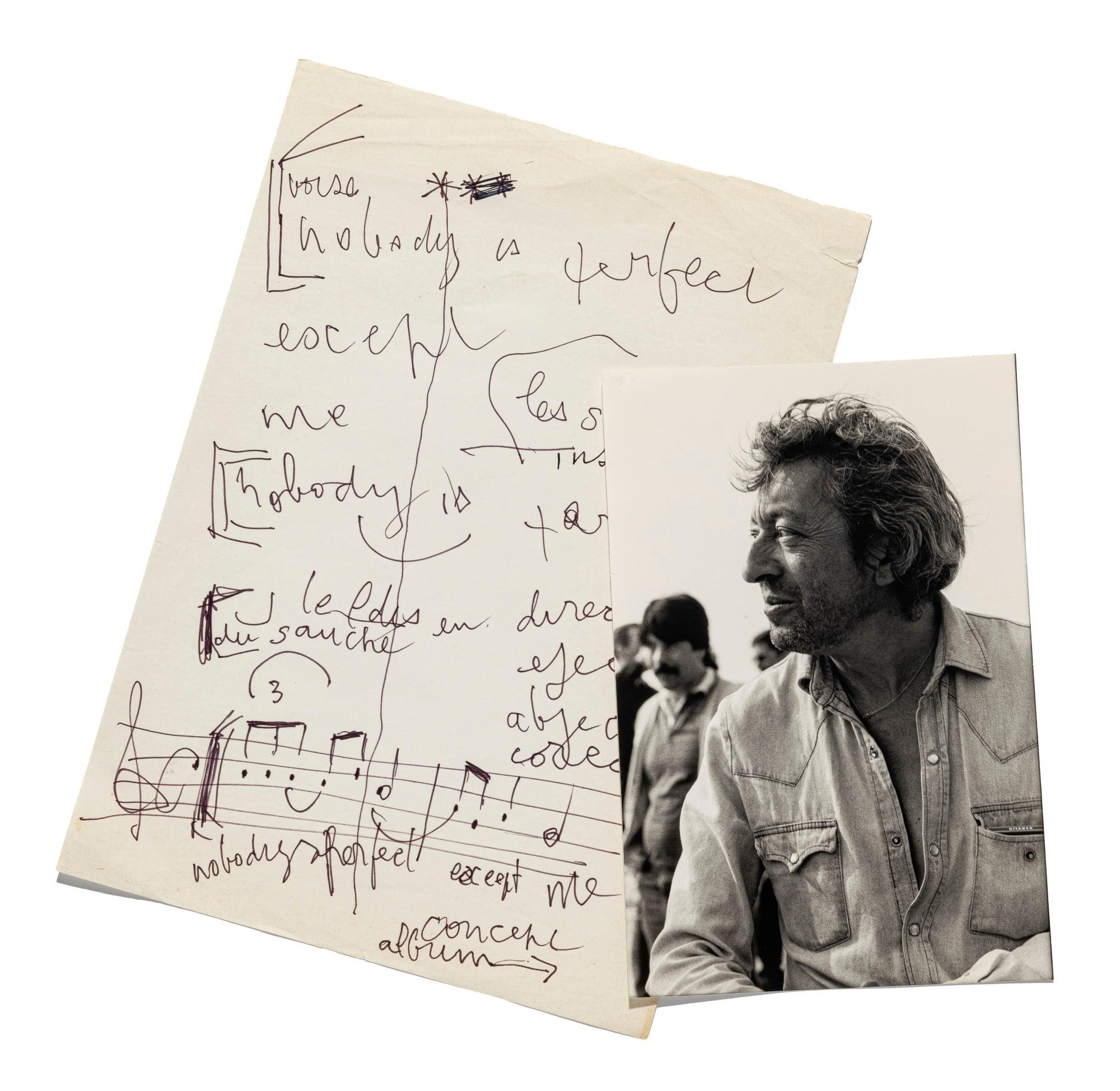 Un ensemble de lots ayant appartenu à Serge Gainsbourg mis en vente